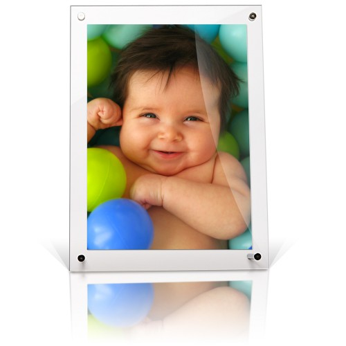A5 acrylic desktop free standing photo frame