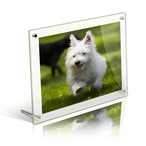 A4 acrylic free standing desktop photo frame