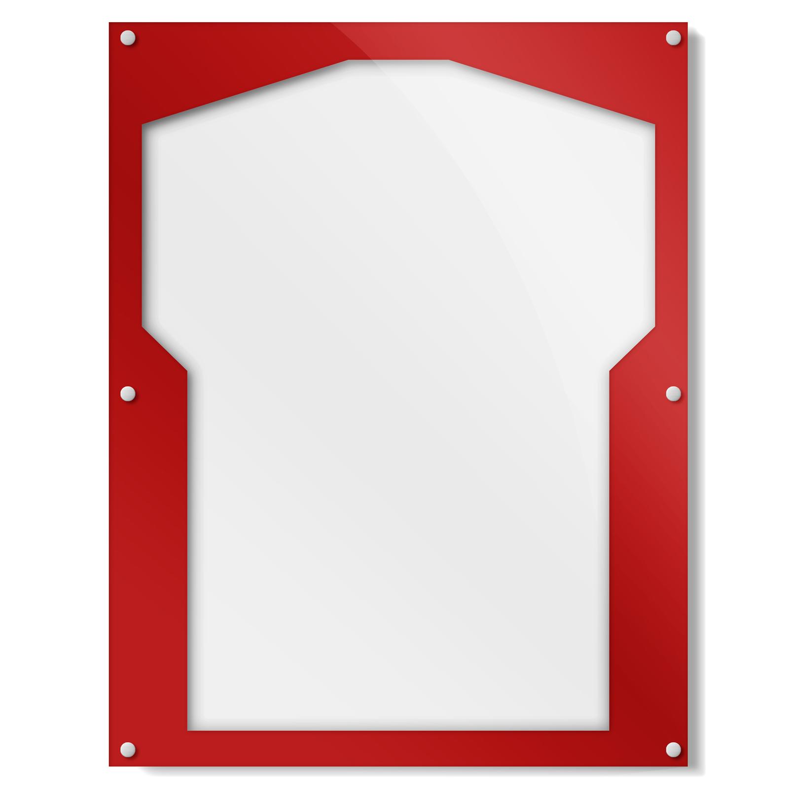 Red Border Shirt Frame