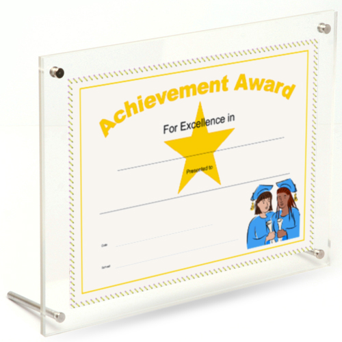 Certificate frames for the desktop