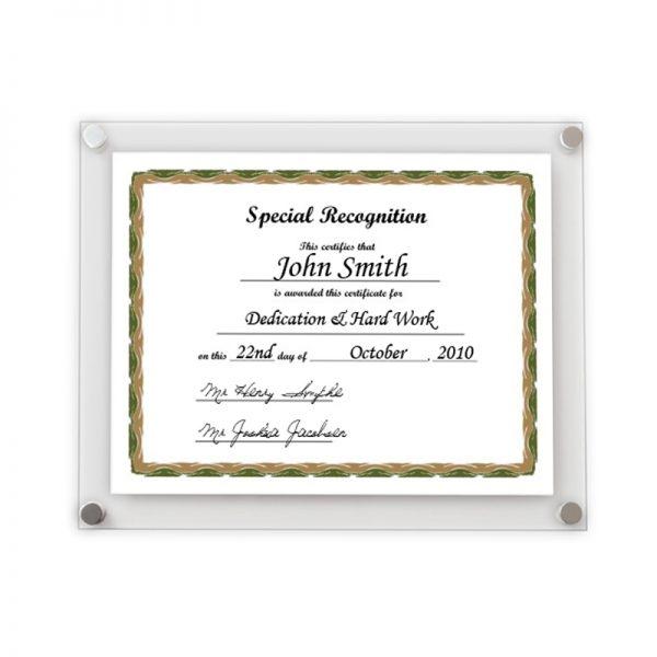 clear-certificate-frame