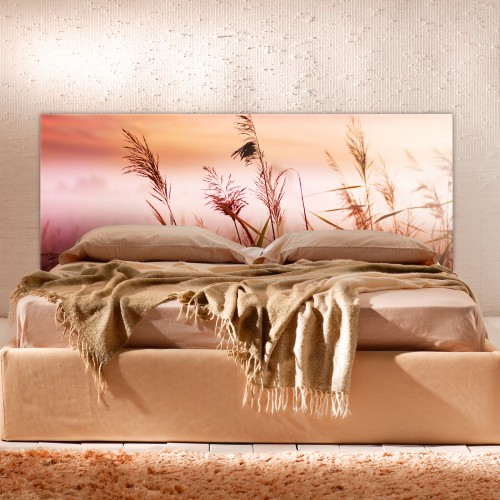 Printed Custom Made acrylic headboard for a double bed