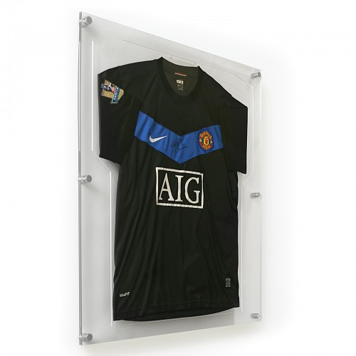 transparent, clear acrylic sports shirt frame