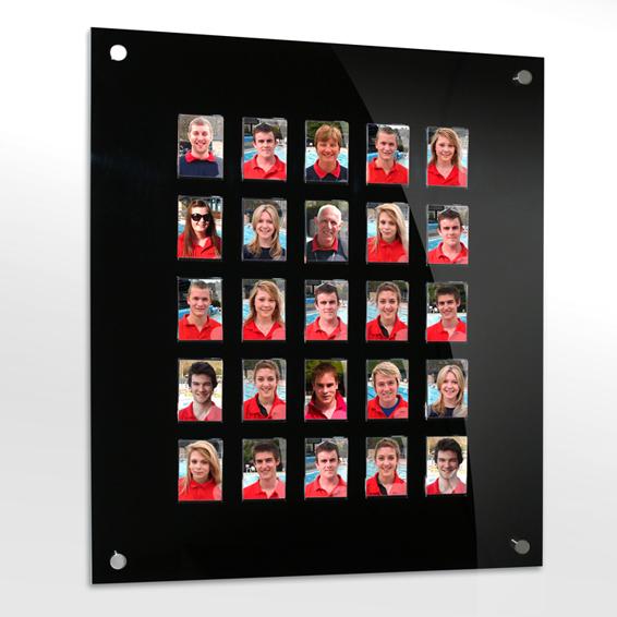 25 image staff photo board