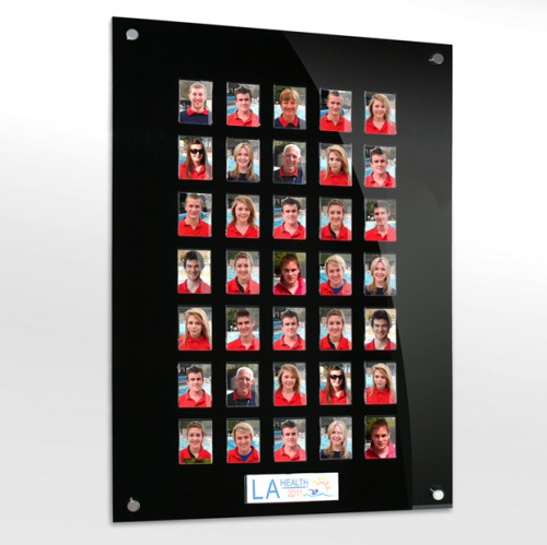 35 image staff photo board