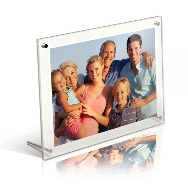 8x6 acrylic freestanding desktop photo frame
