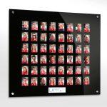 48 image acrylic staff photo board