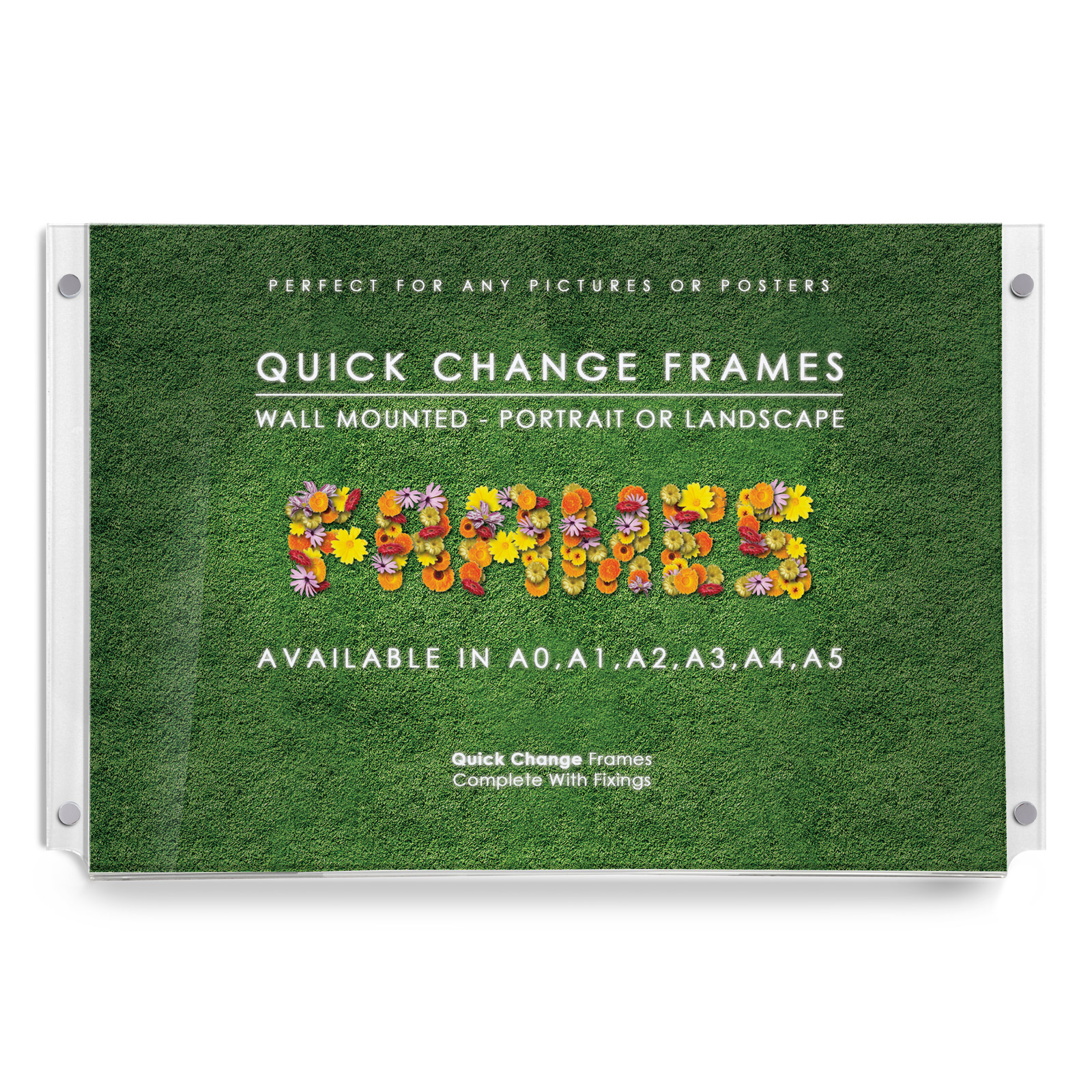Quick Change Wall Mounted Acrylic Frames Get Acrylic Photo Frames