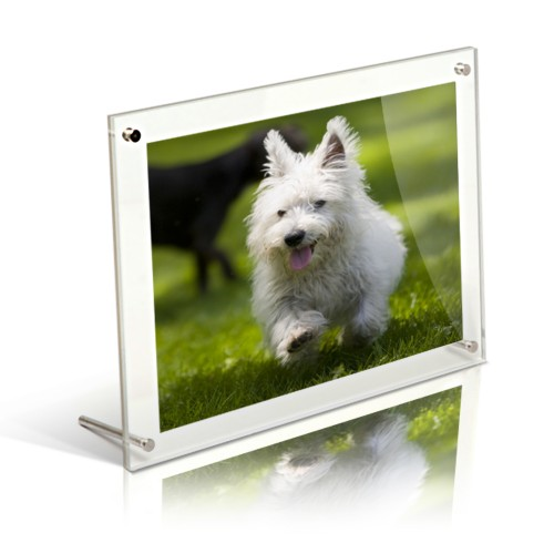 A4 acrylic free standing desktop photo frame