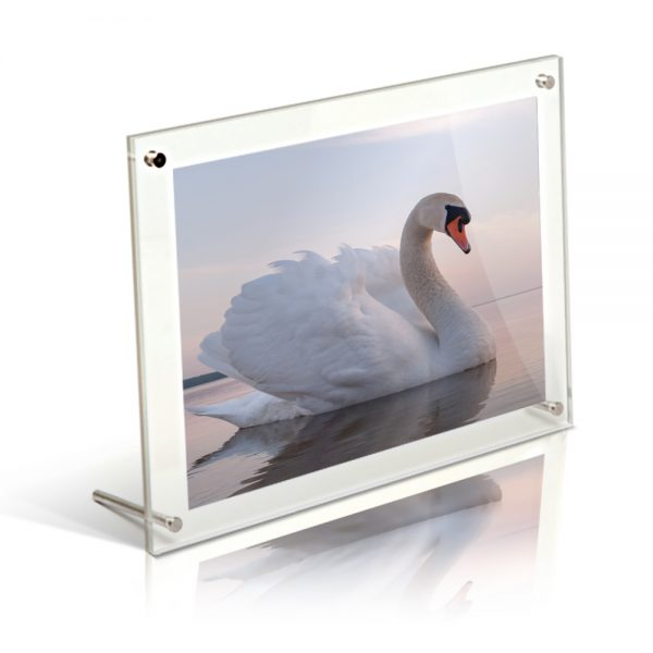 6x4 Acrylic Free standing desktop photo frame