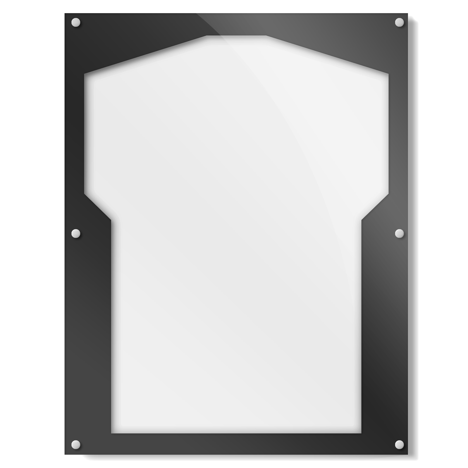 Black Shirt Frame With Team Variations | Get Acrylic Photo Frames