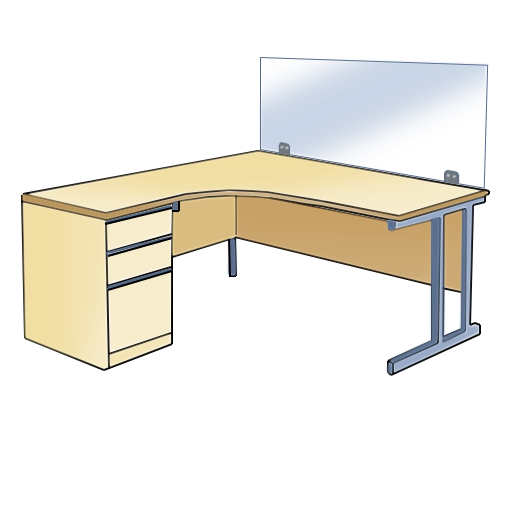 Clear screen for desks