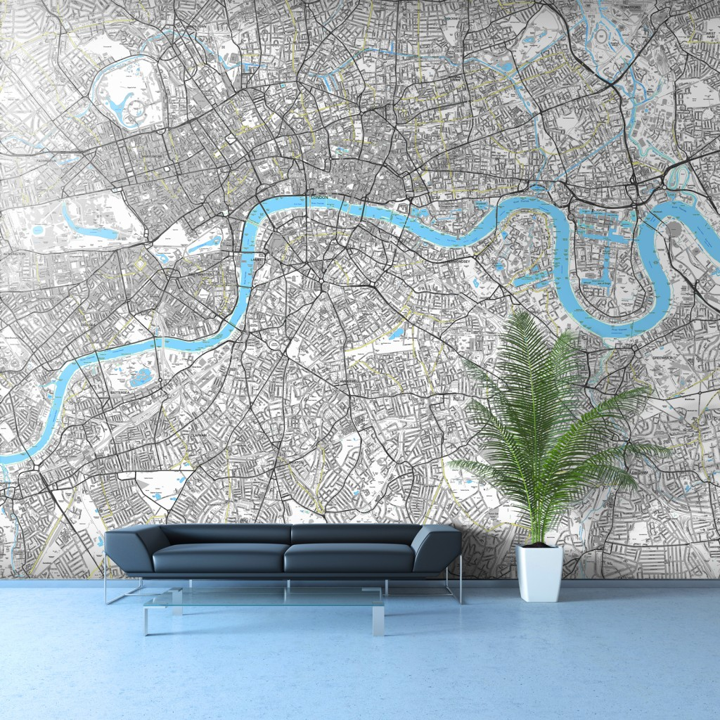 london wall map sq