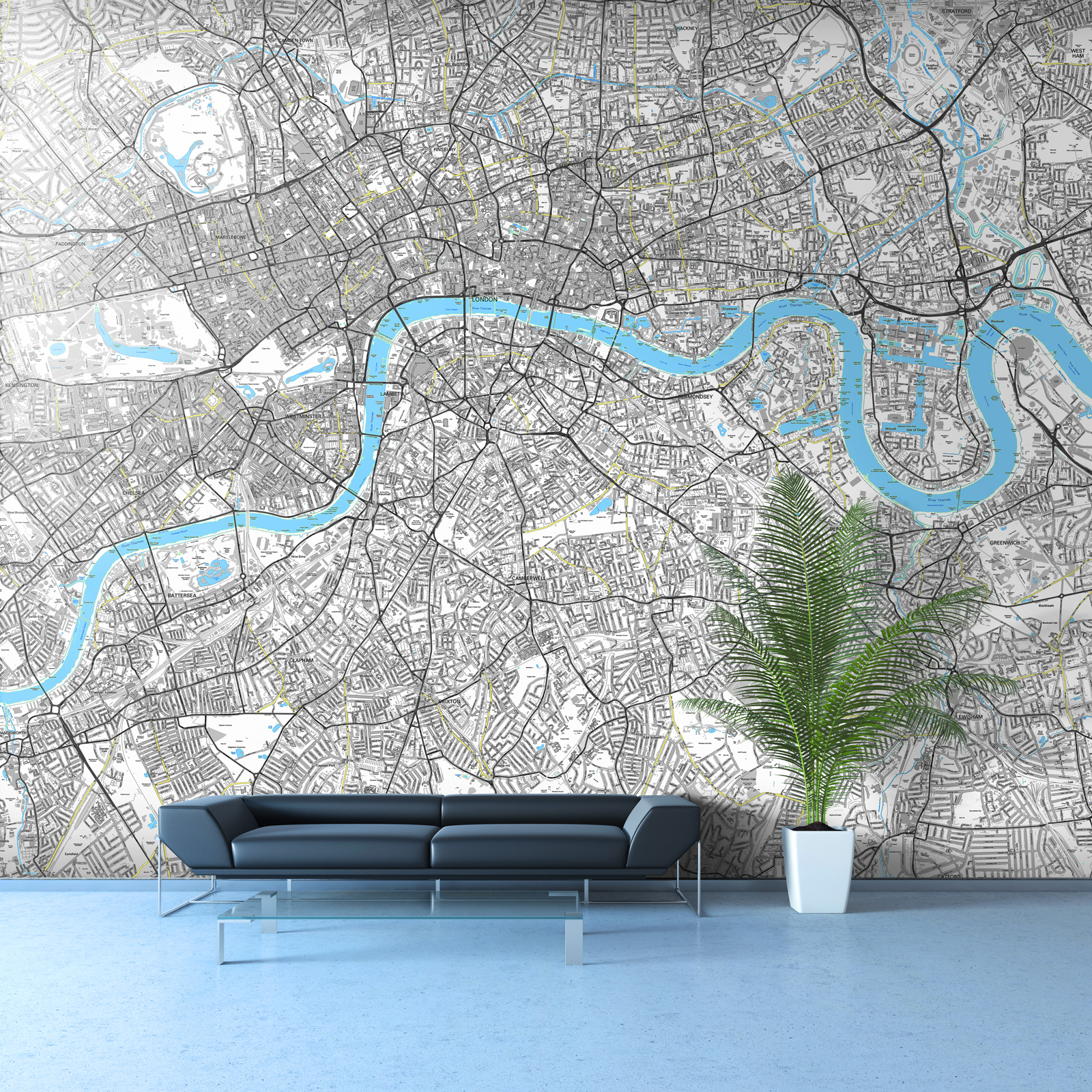 Street map wallpaper in your own corporate colours get for Custom mural wallpaper uk