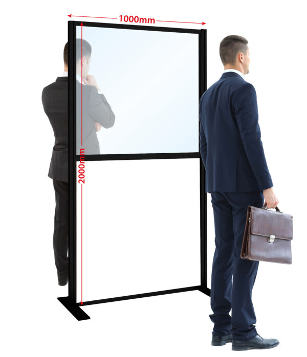 Floor Standing Screens Office Standing Divider Black Frame scaled