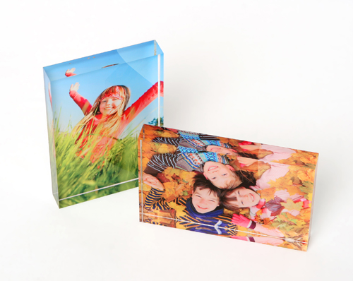 2 Printed Photo Acrylic Blocks