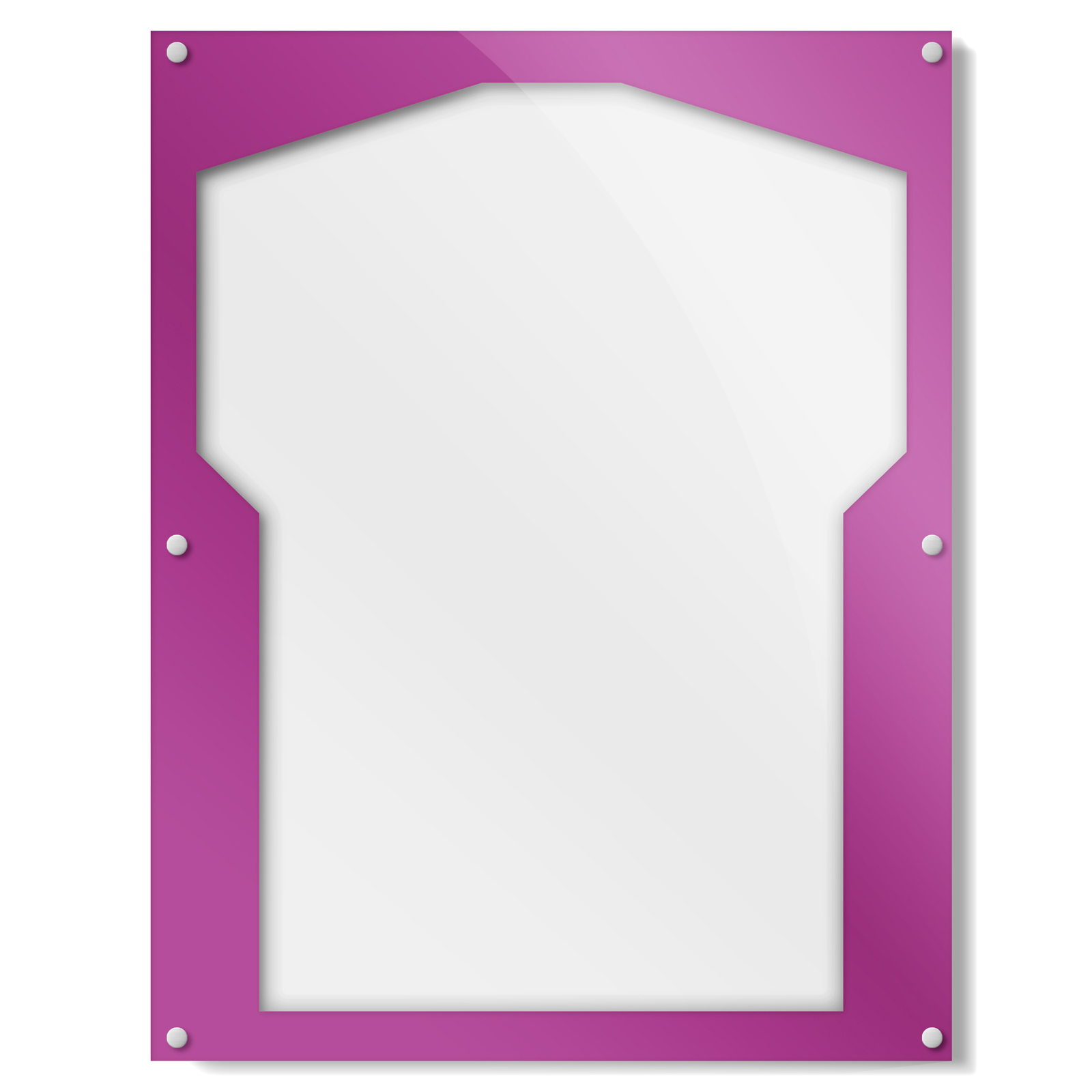 Purple Shirt Frame With Team Variations | Get Acrylic Photo Frames