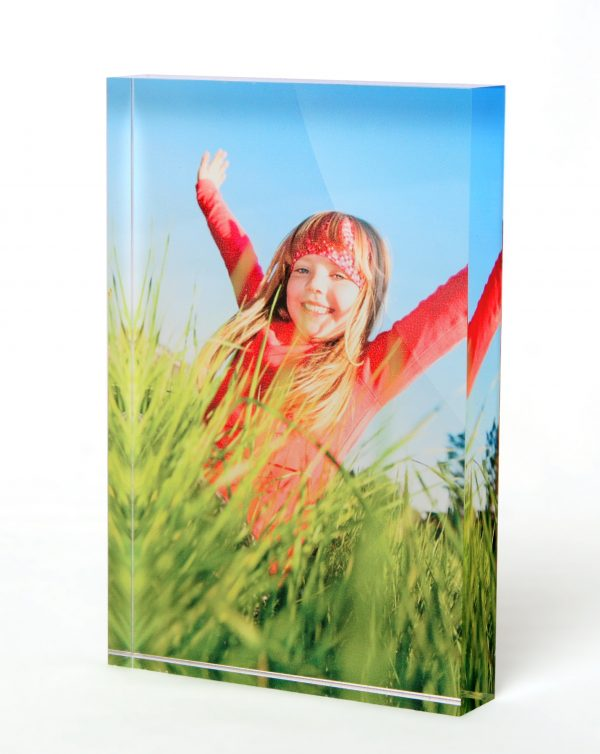 upright acrylic photo block