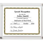 modern acrylic certificate frames