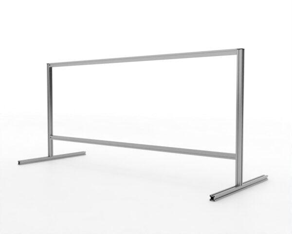 Made To Measure Desk/Countertop & Reception Screens counter top aluminium frame screen