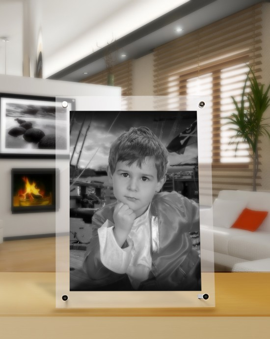 desktop acrylic photo frames