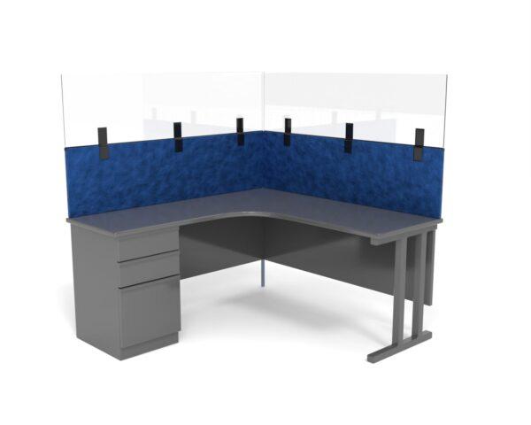 Clear Desk Screen Toppers desktopA001shaded