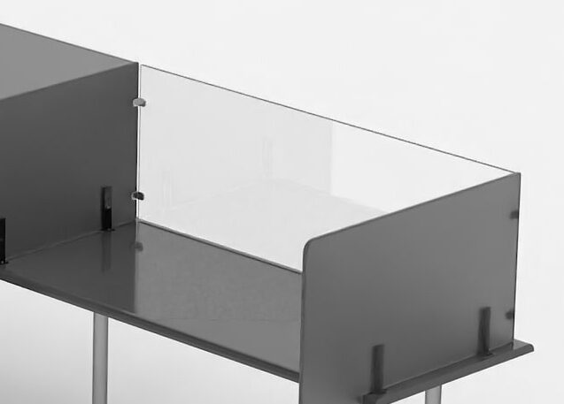 Bespoke isolation desk screening modular desktop screen front e1605177063157