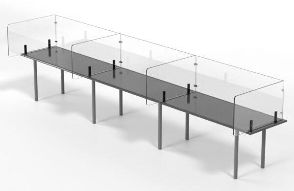 Bespoke isolation desk screening modular screen system