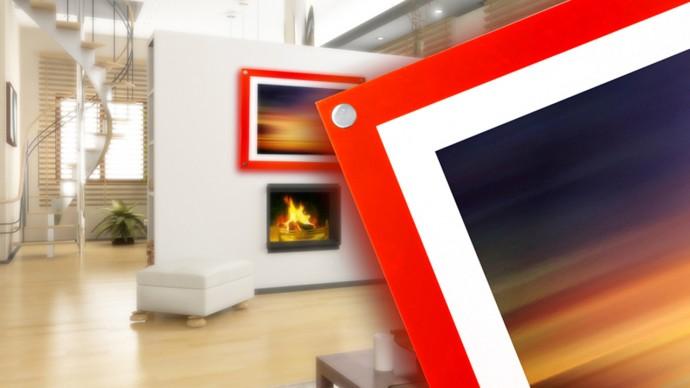 orange acrylic photo frame
