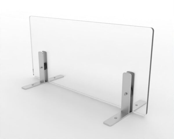 Easy, Clear, Free Standing - For Desk, Table & Countertops stand simple grey